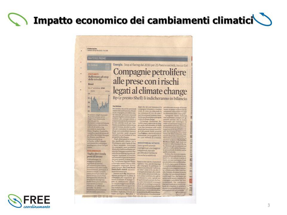 3 Impatto economico dei cambiamenti climatici