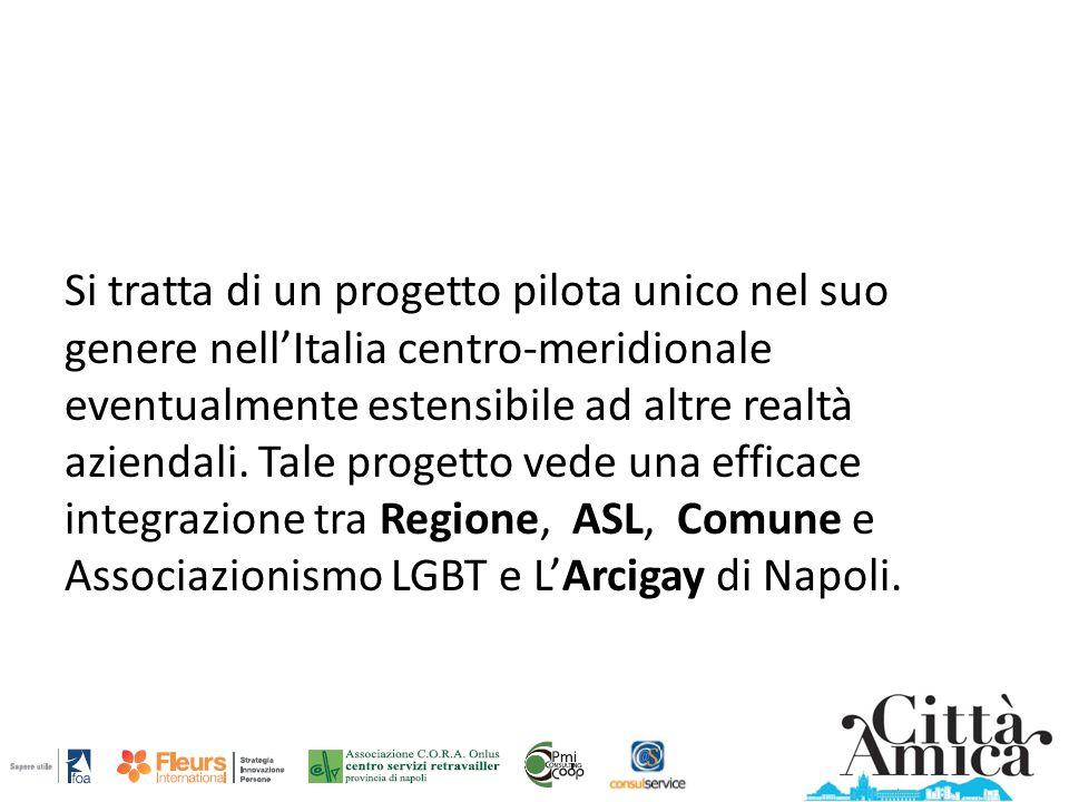 Si tratta di un progetto pilota unico nel suo genere nell'Italia centro-meridionale eventualmente estensibile ad altre realtà aziendali. Tale progetto