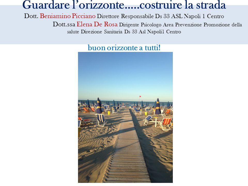 Guardare l'orizzonte…..costruire la strada Dott. Beniamino Picciano Direttore Responsabile Ds 33 ASL Napoli 1 Centro Dott.ssa Elena De Rosa Dirigente