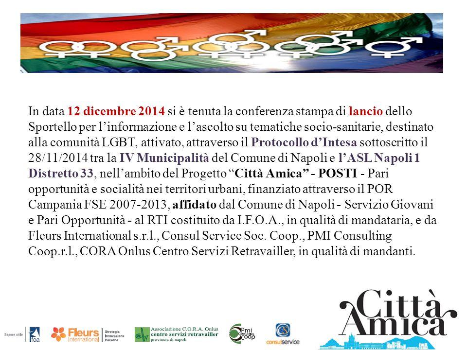 In data 12 dicembre 2014 si è tenuta la conferenza stampa di lancio dello Sportello per l'informazione e l'ascolto su tematiche socio-sanitarie, desti