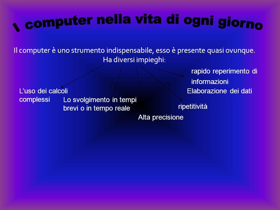 Il computer è uno strumento indispensabile, esso è presente quasi ovunque.