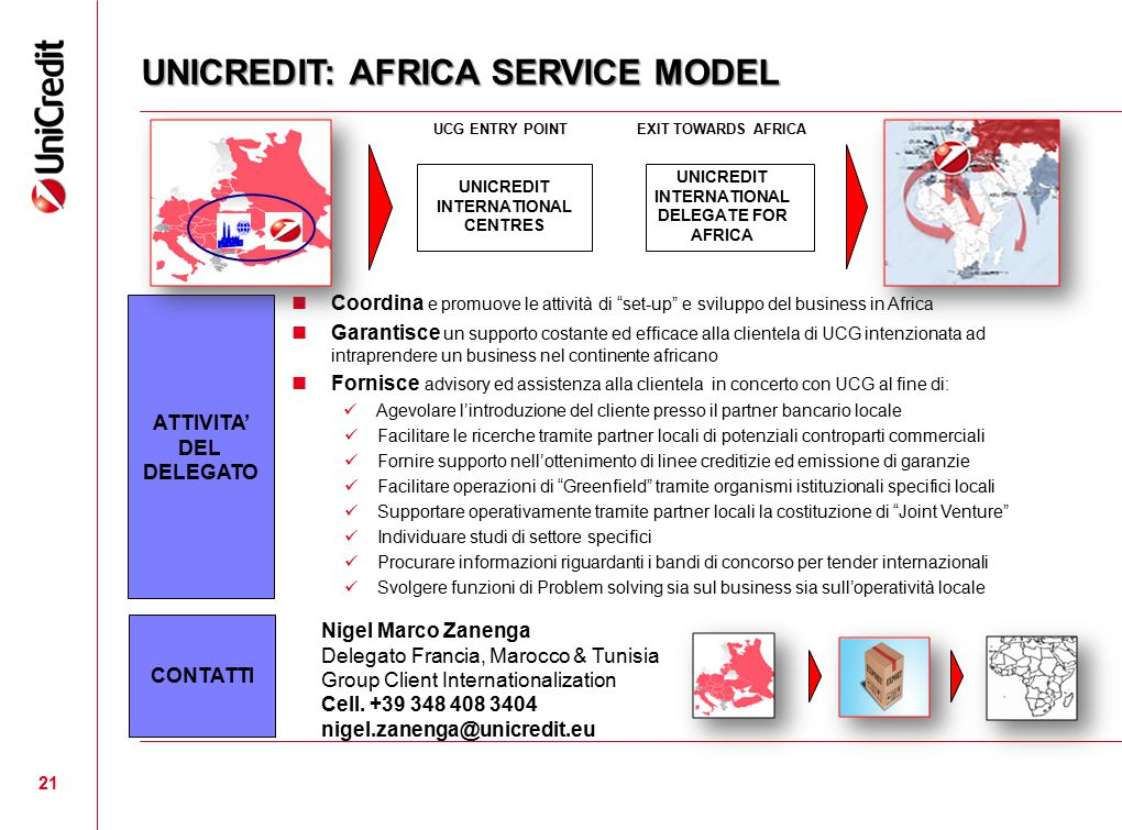 22 UIC AFRICA COUNTRIES NETWORK UIC Africa UCG CORE MARKETS AFRICA Central North East South West