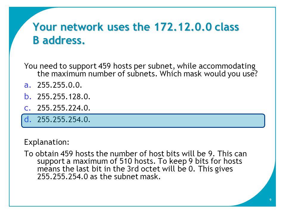 10 Cosa fa il protocollo RARP .a. Mappare IP su MAC b.