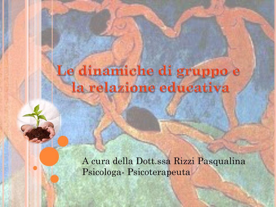 A cura della Dott.ssa Rizzi Pasqualina Psicologa- Psicoterapeuta