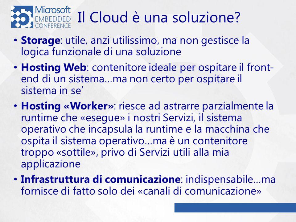 Il Cloud è una soluzione.