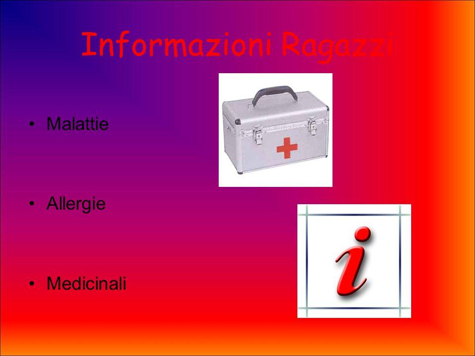 Informazioni Ragazzi Malattie Allergie Medicinali