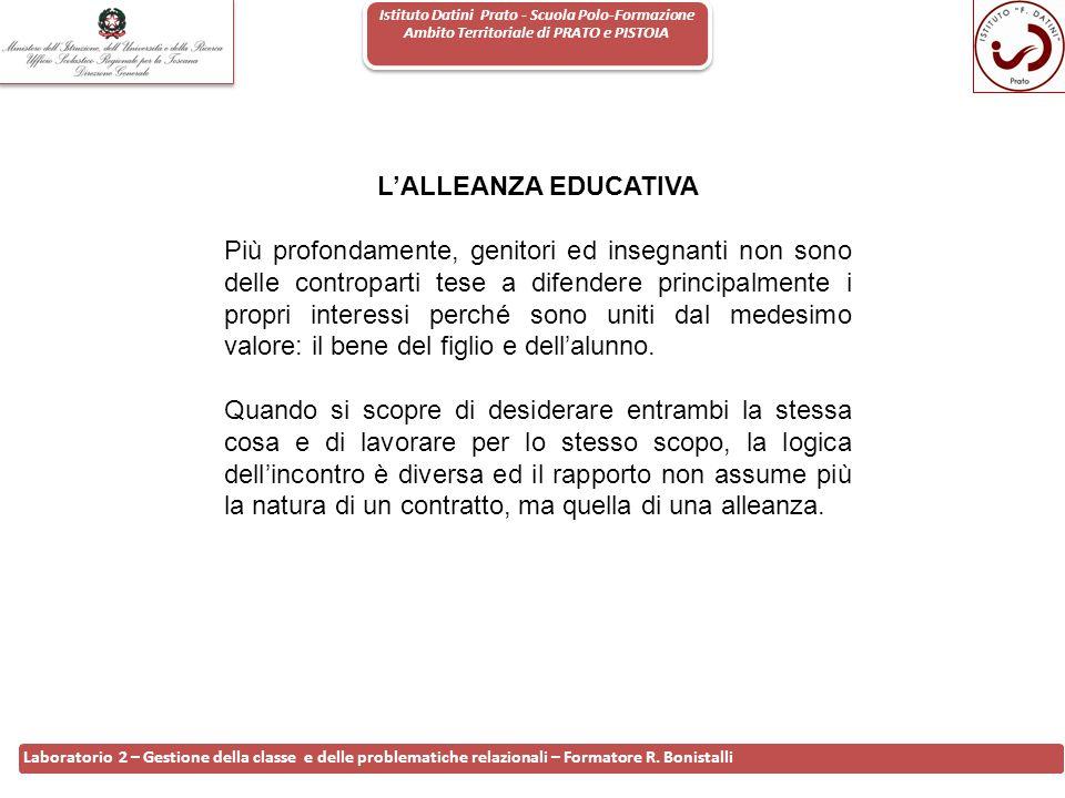 Istituto Datini Prato - Scuola Polo-Formazione Ambito Territoriale di PRATO e PISTOIA 11 Laboratorio 2 – Gestione della classe e delle problematiche r