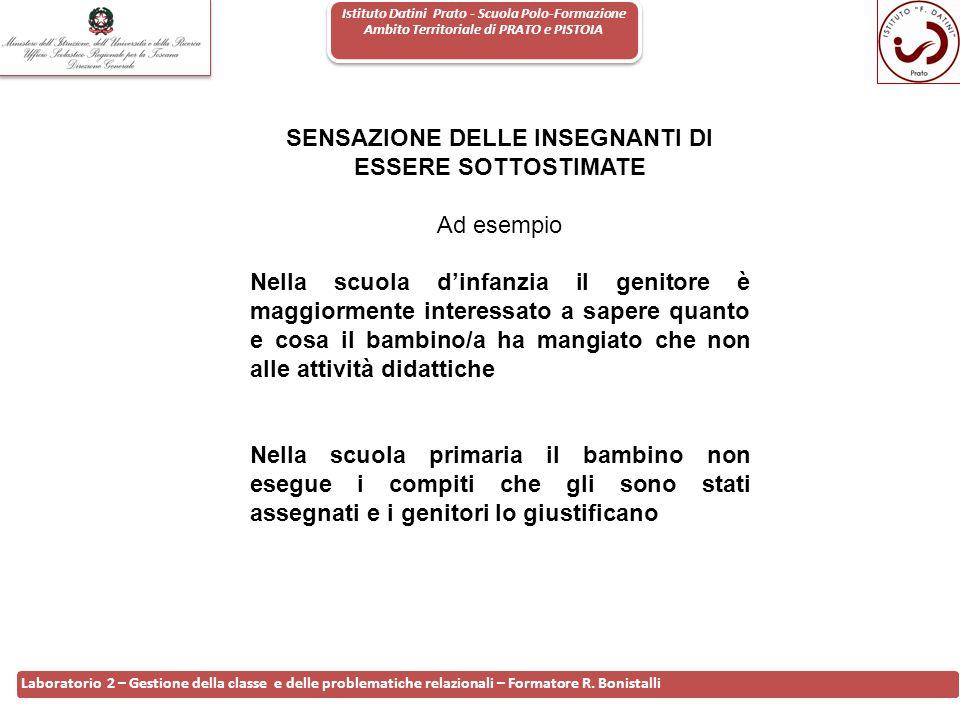 Istituto Datini Prato - Scuola Polo-Formazione Ambito Territoriale di PRATO e PISTOIA 3 Laboratorio 2 – Gestione della classe e delle problematiche re