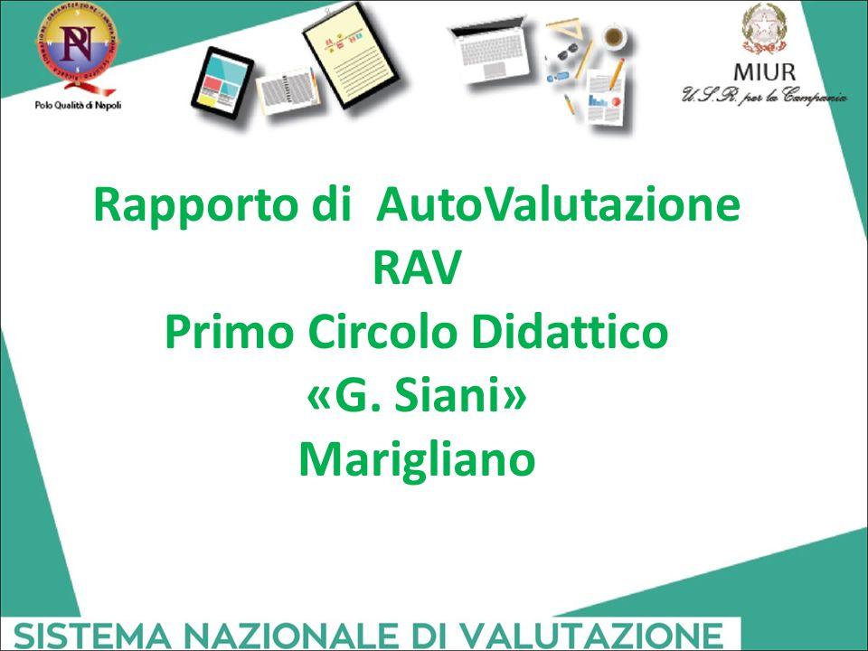 Rapporto di AutoValutazione RAV Primo Circolo Didattico «G. Siani» Marigliano