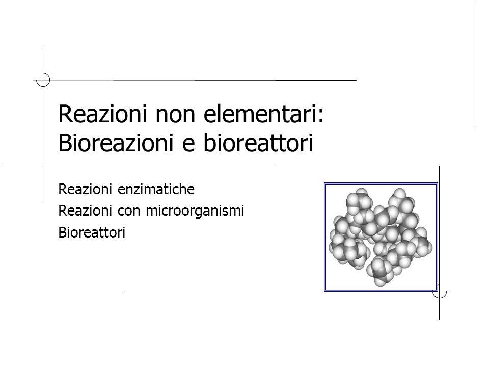 Reazioni non elementari: Bioreazioni e bioreattori Reazioni enzimatiche Reazioni con microorganismi Bioreattori