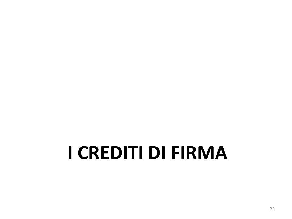 I CREDITI DI FIRMA 36