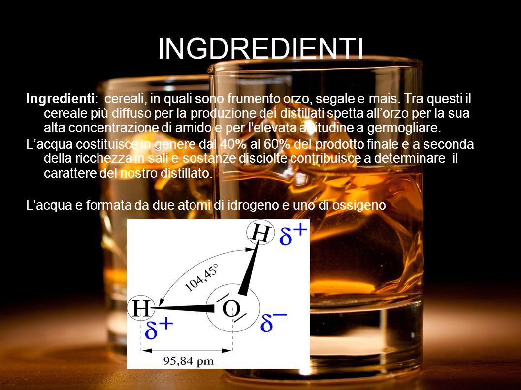 INGDREDIENTI Ingredienti: cereali, in quali sono frumento orzo, segale e mais.