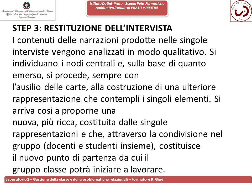 Istituto Datini Prato - Scuola Polo-Formazione Ambito Territoriale di PRATO e PISTOIA 105 Laboratorio 2 – Gestione della classe e delle problematiche