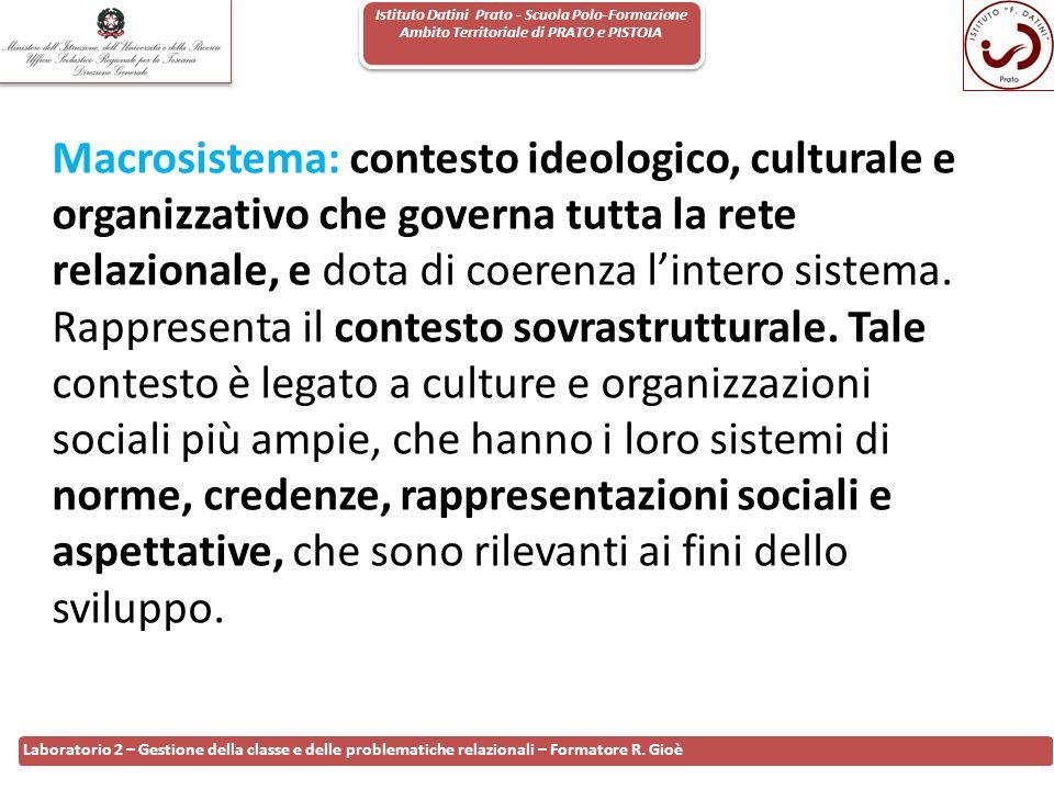 Istituto Datini Prato - Scuola Polo-Formazione Ambito Territoriale di PRATO e PISTOIA 12 Laboratorio 2 – Gestione della classe e delle problematiche r