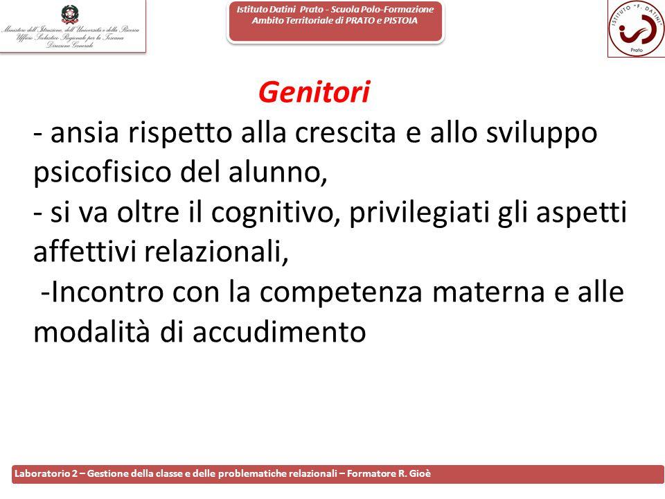 Istituto Datini Prato - Scuola Polo-Formazione Ambito Territoriale di PRATO e PISTOIA 20 Laboratorio 2 – Gestione della classe e delle problematiche r