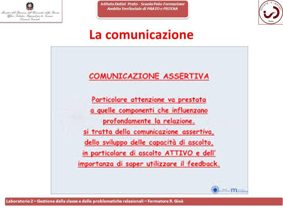 Istituto Datini Prato - Scuola Polo-Formazione Ambito Territoriale di PRATO e PISTOIA 32 Laboratorio 2 – Gestione della classe e delle problematiche r