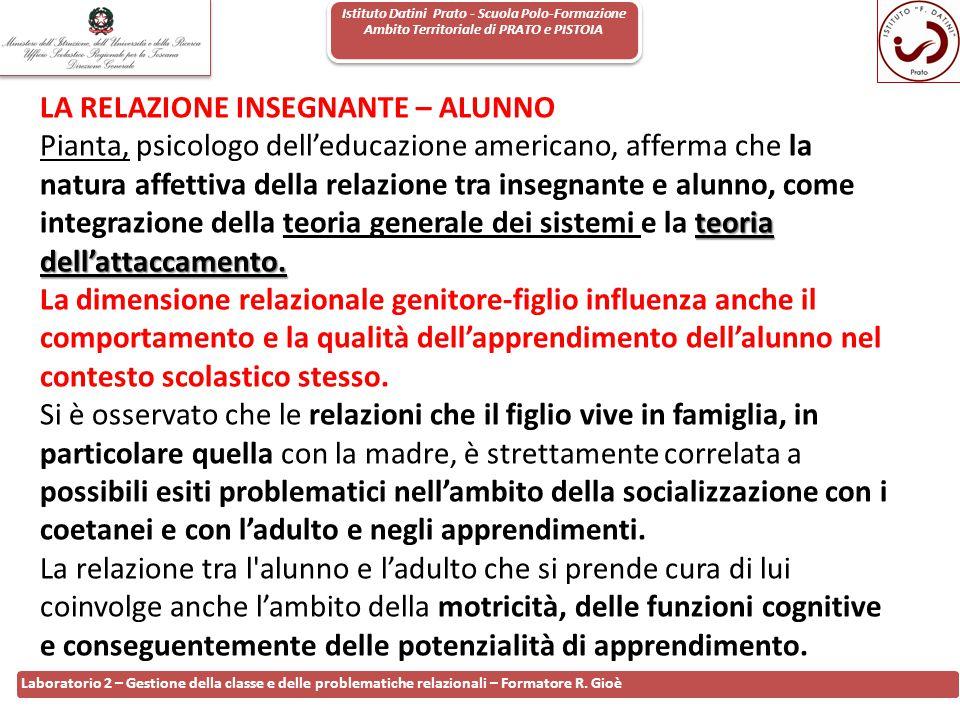 Istituto Datini Prato - Scuola Polo-Formazione Ambito Territoriale di PRATO e PISTOIA 60 Laboratorio 2 – Gestione della classe e delle problematiche r
