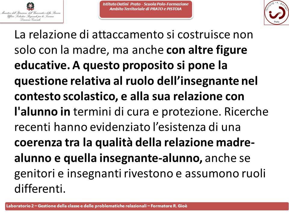 Istituto Datini Prato - Scuola Polo-Formazione Ambito Territoriale di PRATO e PISTOIA 62 Laboratorio 2 – Gestione della classe e delle problematiche r