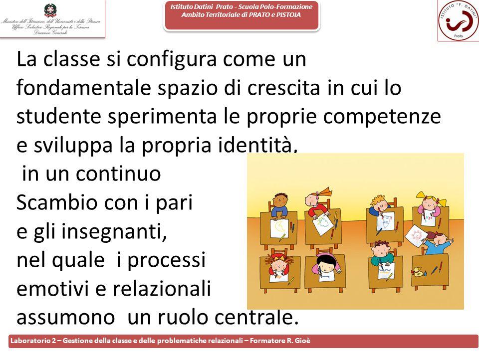 Istituto Datini Prato - Scuola Polo-Formazione Ambito Territoriale di PRATO e PISTOIA 67 Laboratorio 2 – Gestione della classe e delle problematiche r