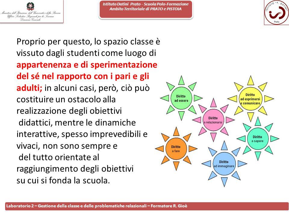 Istituto Datini Prato - Scuola Polo-Formazione Ambito Territoriale di PRATO e PISTOIA 75 Laboratorio 2 – Gestione della classe e delle problematiche r