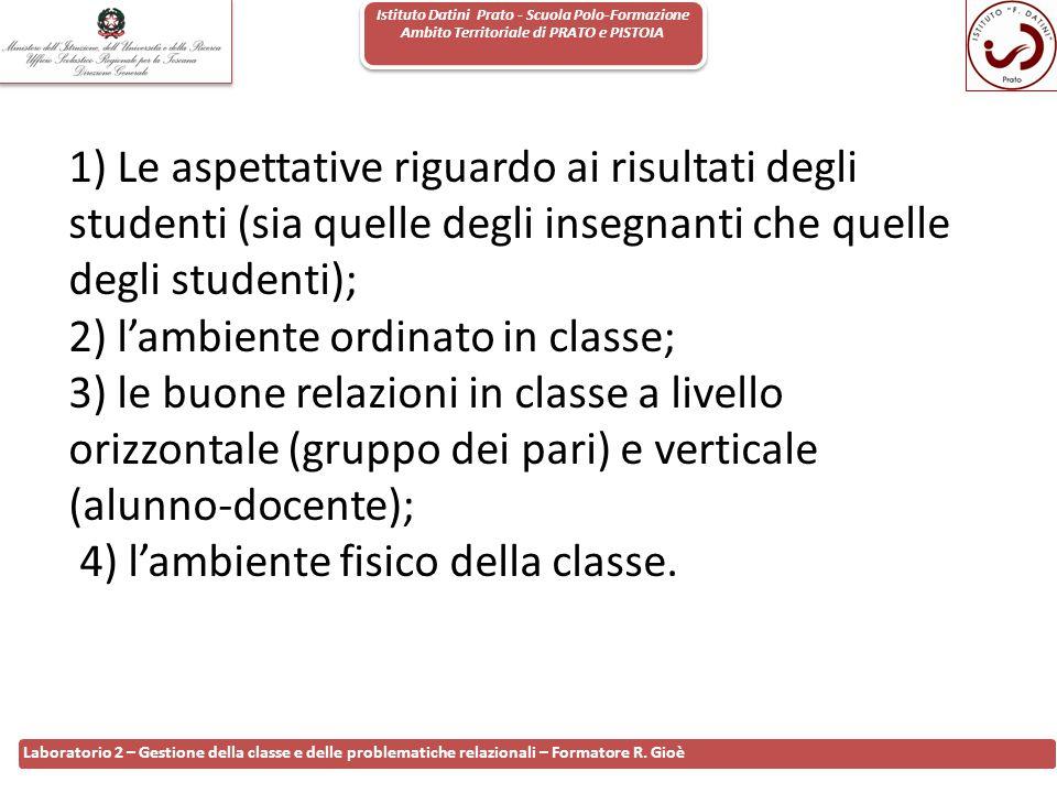 Istituto Datini Prato - Scuola Polo-Formazione Ambito Territoriale di PRATO e PISTOIA 80 Laboratorio 2 – Gestione della classe e delle problematiche r