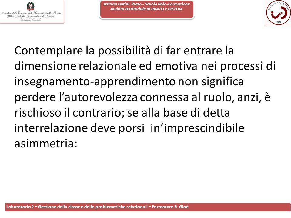 Istituto Datini Prato - Scuola Polo-Formazione Ambito Territoriale di PRATO e PISTOIA 88 Laboratorio 2 – Gestione della classe e delle problematiche r