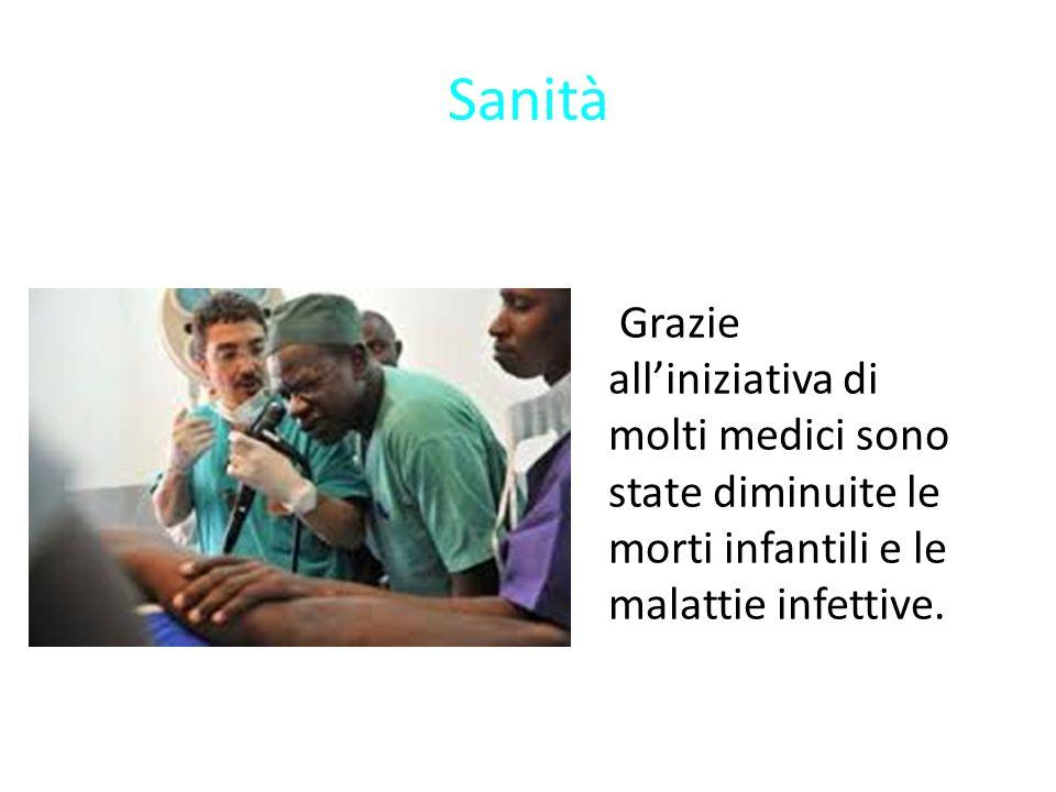 Grazie all'iniziativa di molti medici sono state diminuite le morti infantili e le malattie infettive.