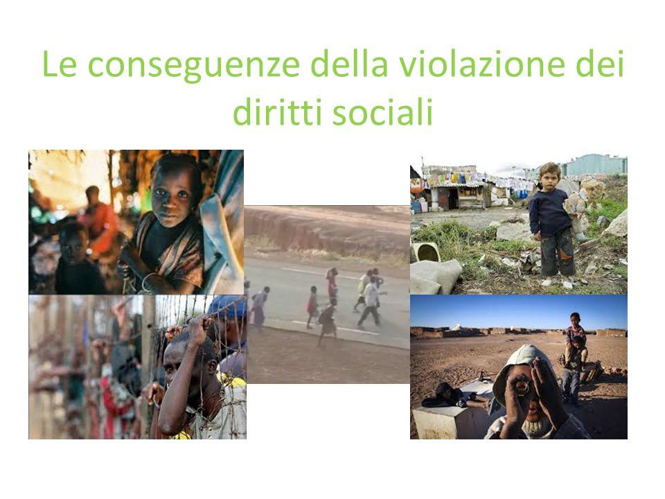 Le conseguenze della violazione dei diritti sociali