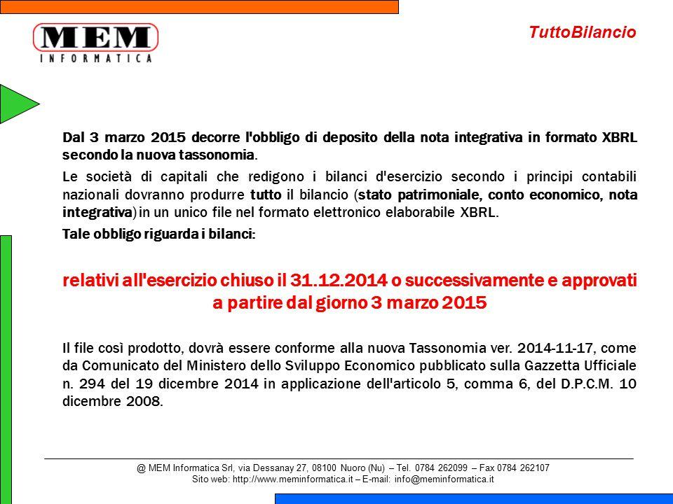 @ MEM Informatica Srl, via Dessanay 27, 08100 Nuoro (Nu) – Tel.