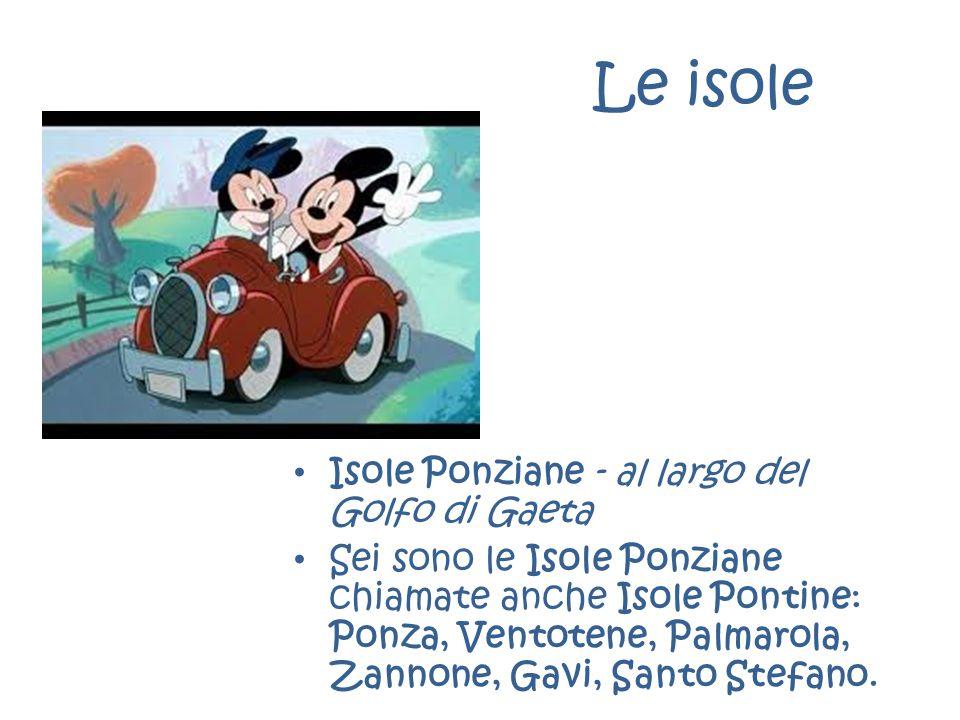 Le isole Isole Ponziane - al largo del Golfo di Gaeta Sei sono le Isole Ponziane chiamate anche Isole Pontine: Ponza, Ventotene, Palmarola, Zannone, G