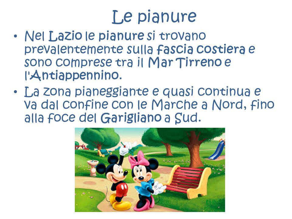 Le pianure Nel Lazio le pianure si trovano prevalentemente sulla fascia costiera e sono comprese tra il Mar Tirreno e l'Antiappennino. La zona pianegg