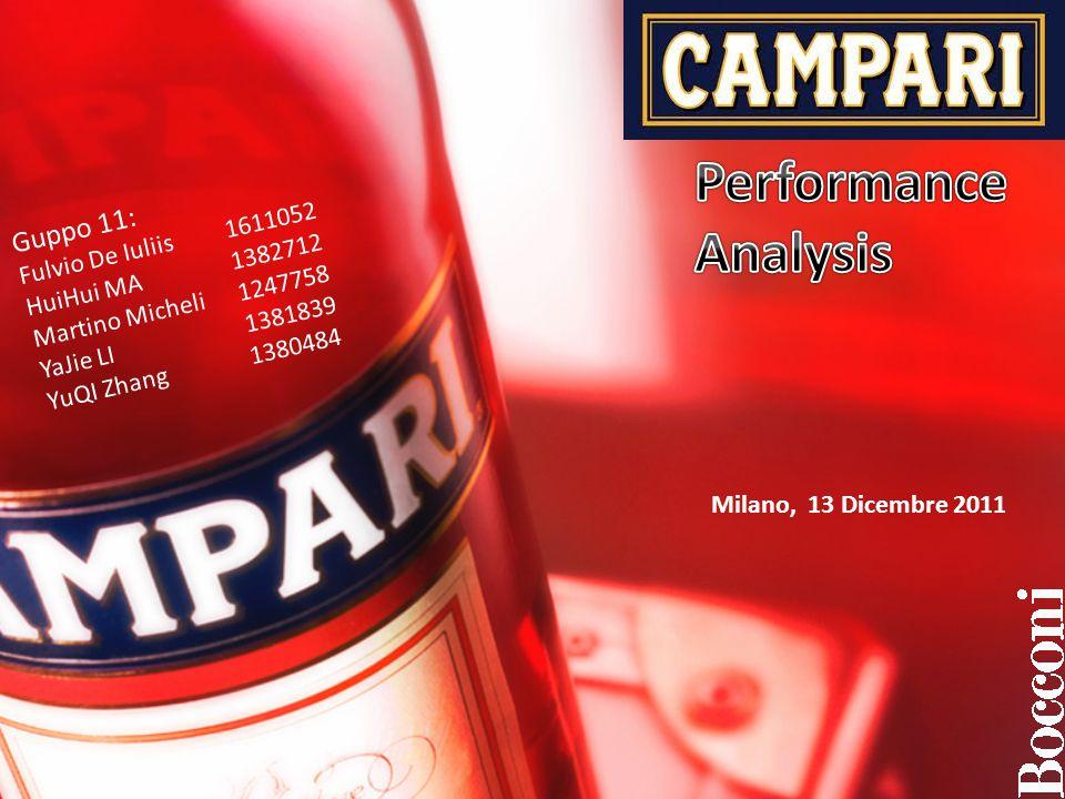 Milano, 13 Dicembre 2011 Guppo 11: Fulvio De Iuliis 1611052 HuiHui MA 1382712 Martino Micheli 1247758 YaJie LI 1381839 YuQI Zhang 1380484