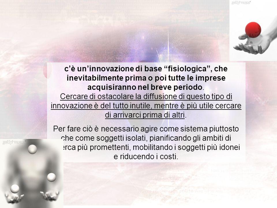 """c'è un'innovazione di base """"fisiologica"""", che inevitabilmente prima o poi tutte le imprese acquisiranno nel breve periodo. Cercare di ostacolare la di"""