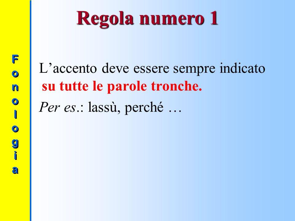 Quando è obbligatorio scrivere l'accento (grafico)? Le regole fondamentali sono tre. FonologiaFonologia FonologiaFonologia