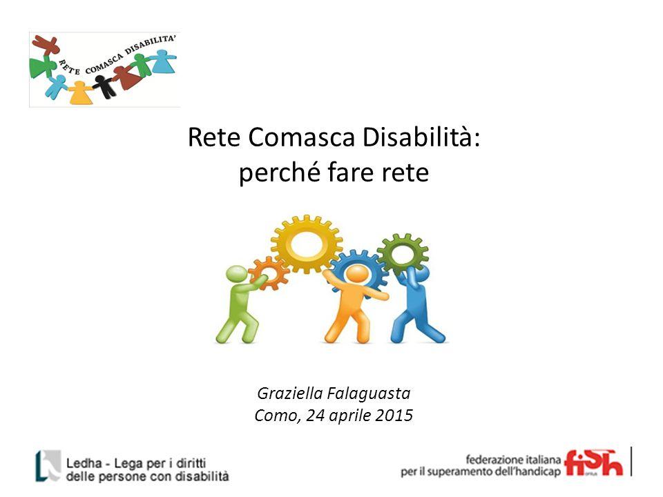 Rete Comasca Disabilità: perché fare rete Graziella Falaguasta Como, 24 aprile 2015