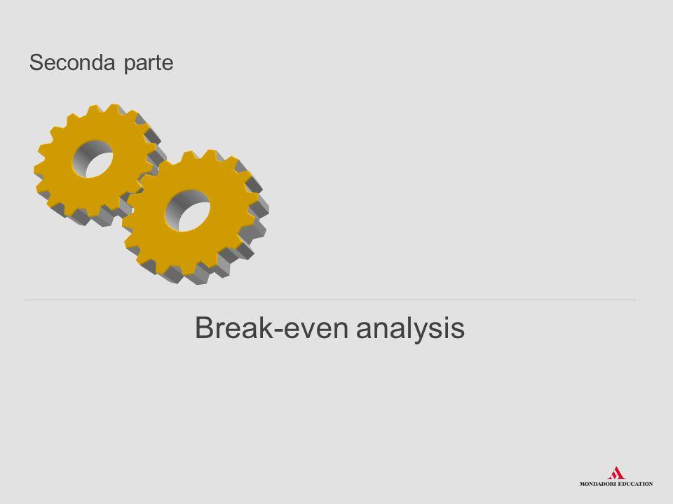 Break-even analysis Seconda parte