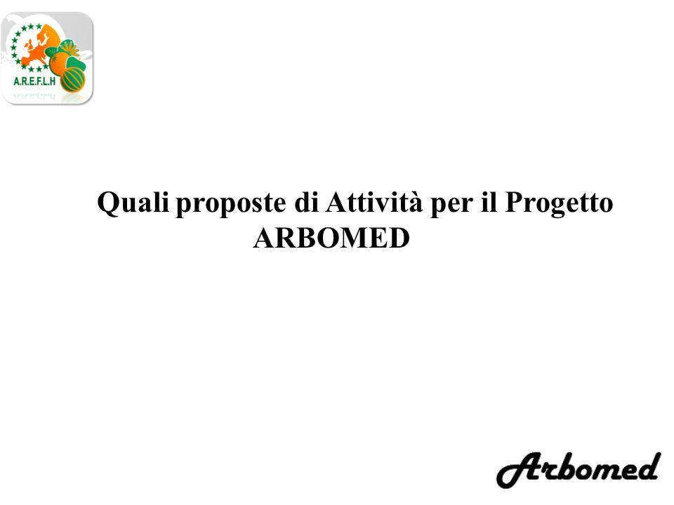 Quali proposte di Attività per il Progetto ARBOMED