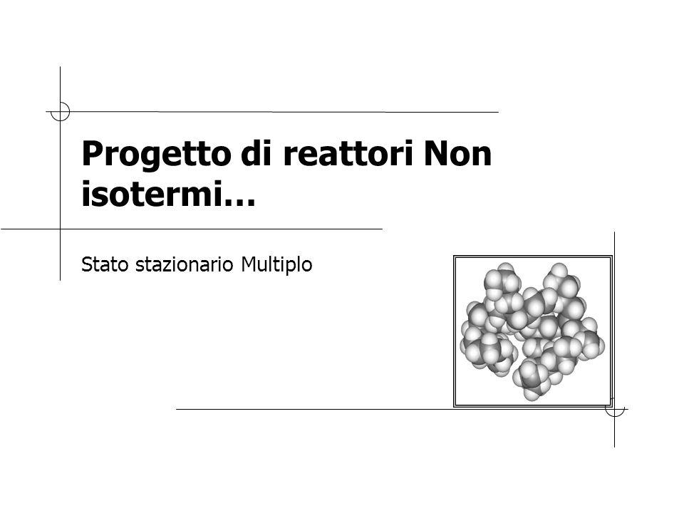 Progetto di reattori Non isotermi… Stato stazionario Multiplo