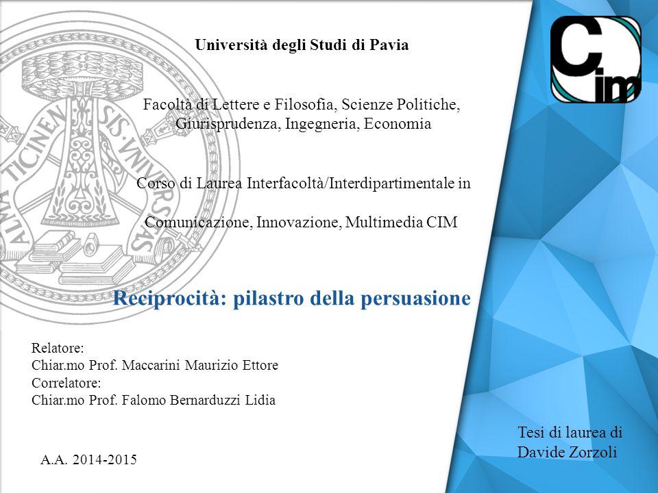 Tesi di laurea di Davide Zorzoli A.A.