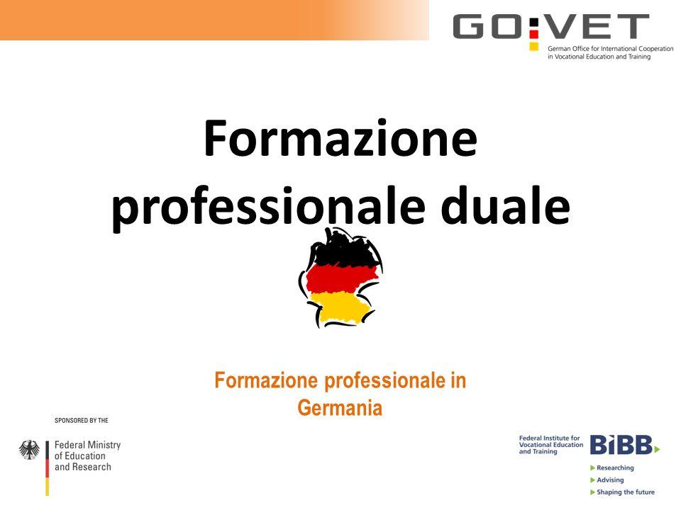 Formazione professionale duale Formazione professionale in Germania