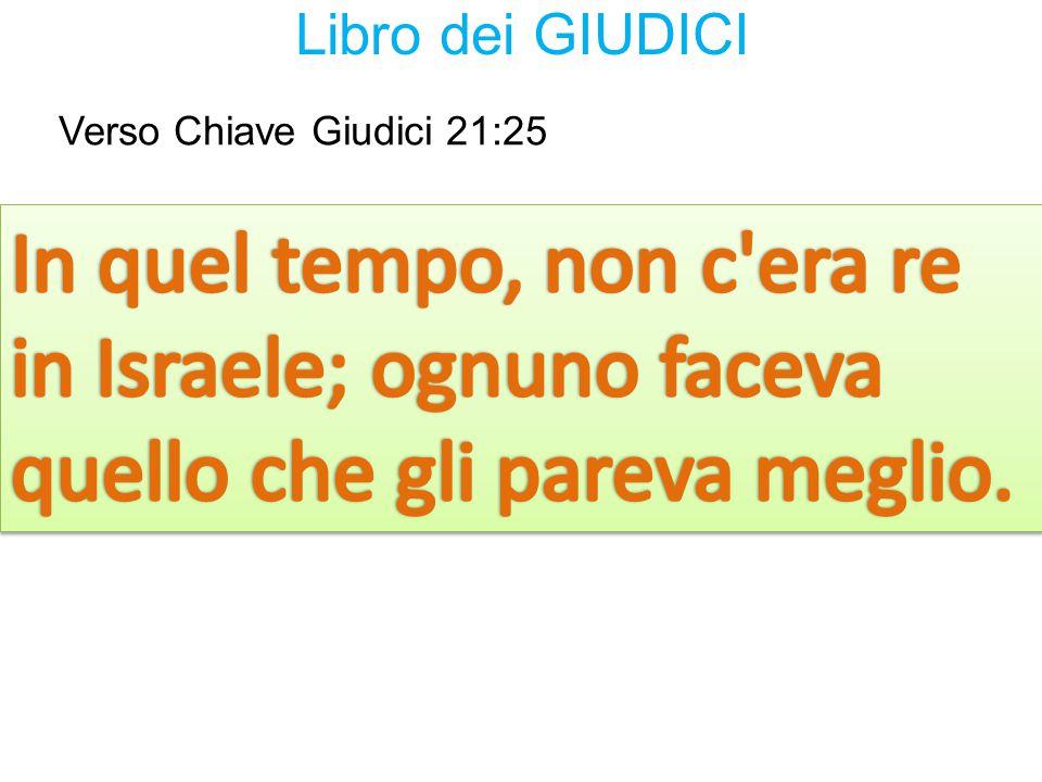 Verso Chiave Giudici 21:25 Libro dei GIUDICI