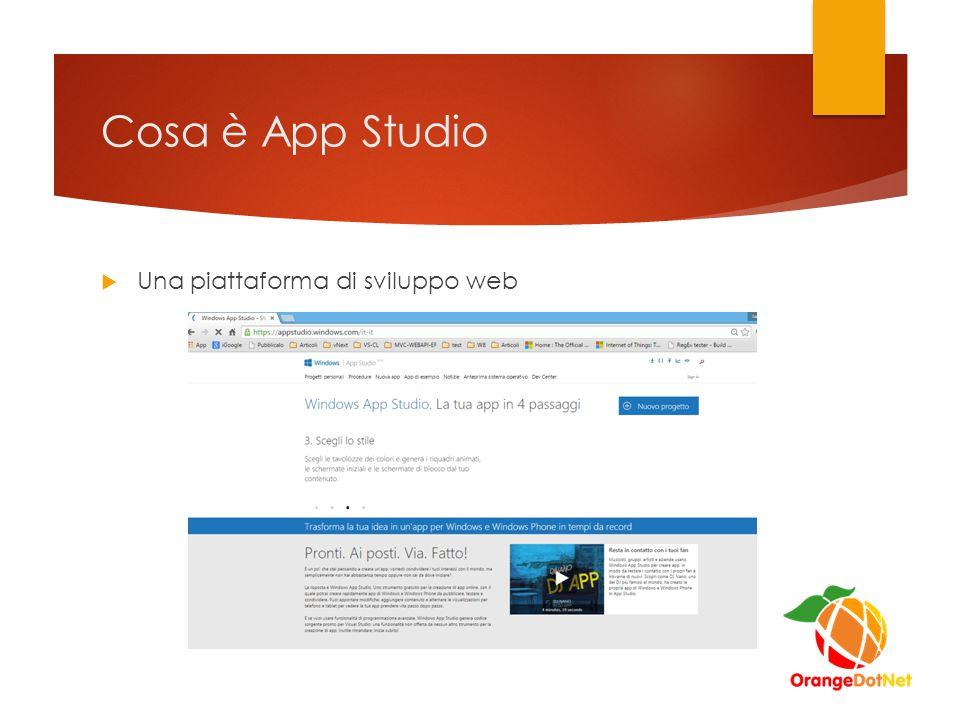 Cosa è App Studio  Una piattaforma di sviluppo web