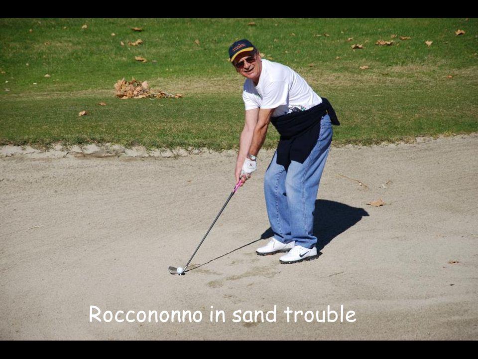 Roccononno in sand trouble