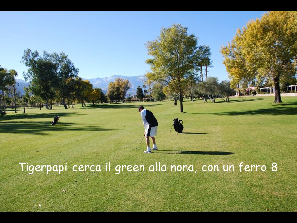 Tigerpapi cerca il green alla nona, con un ferro 8