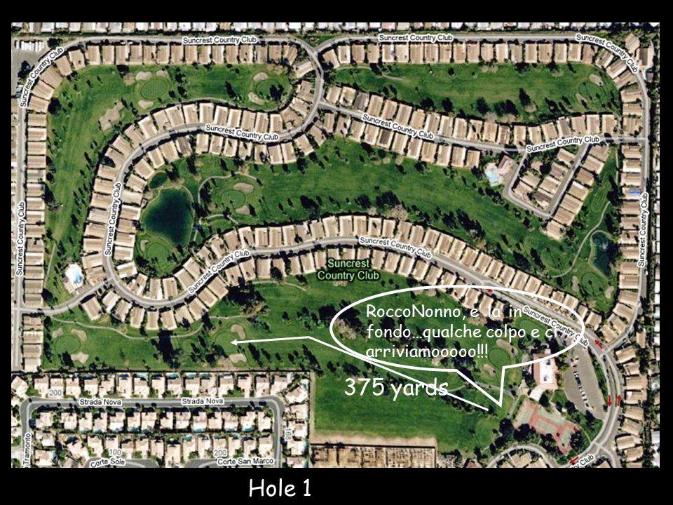 Hole 1 375 yards RoccoNonno, e' la' in fondo…qualche colpo e ci arriviamooooo!!!
