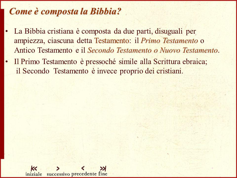Come è composta la Bibbia.