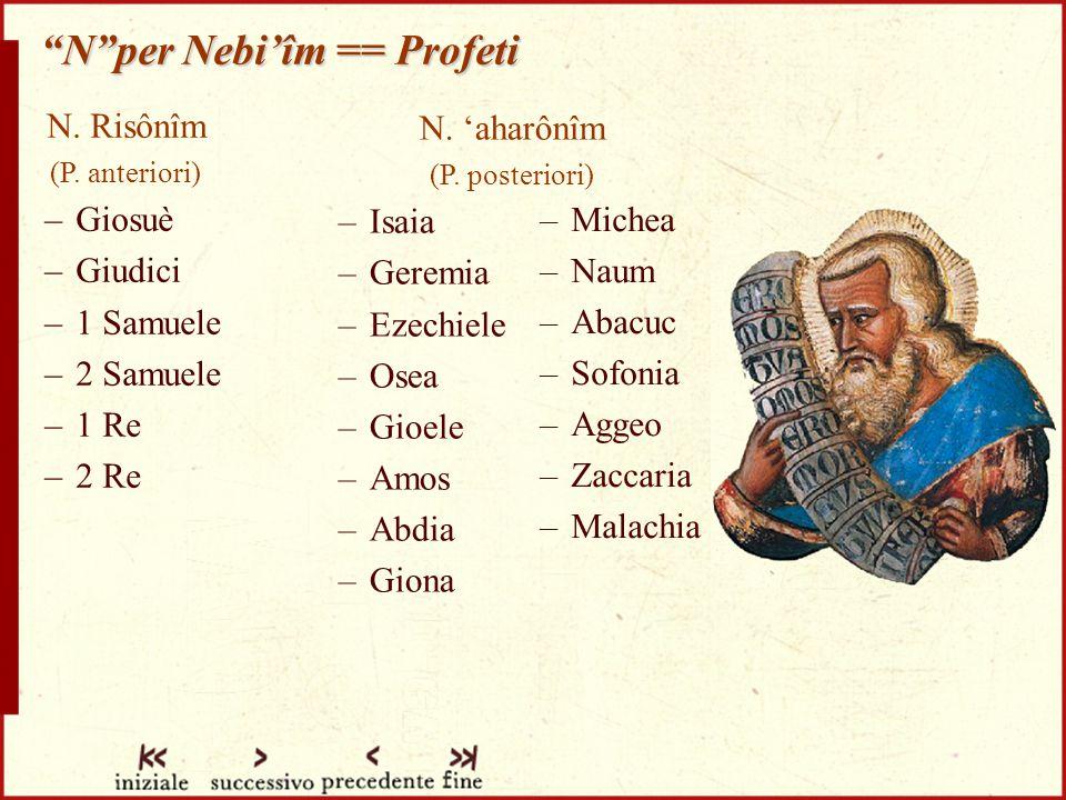 N per Nebi'îm == Profeti N.Risônîm (P.