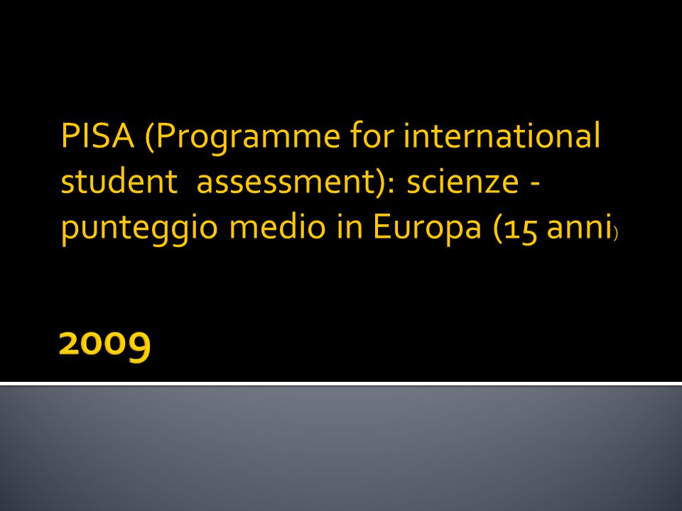 PISA (Programme for international student assessment): scienze - punteggio medio in Europa (15 anni )