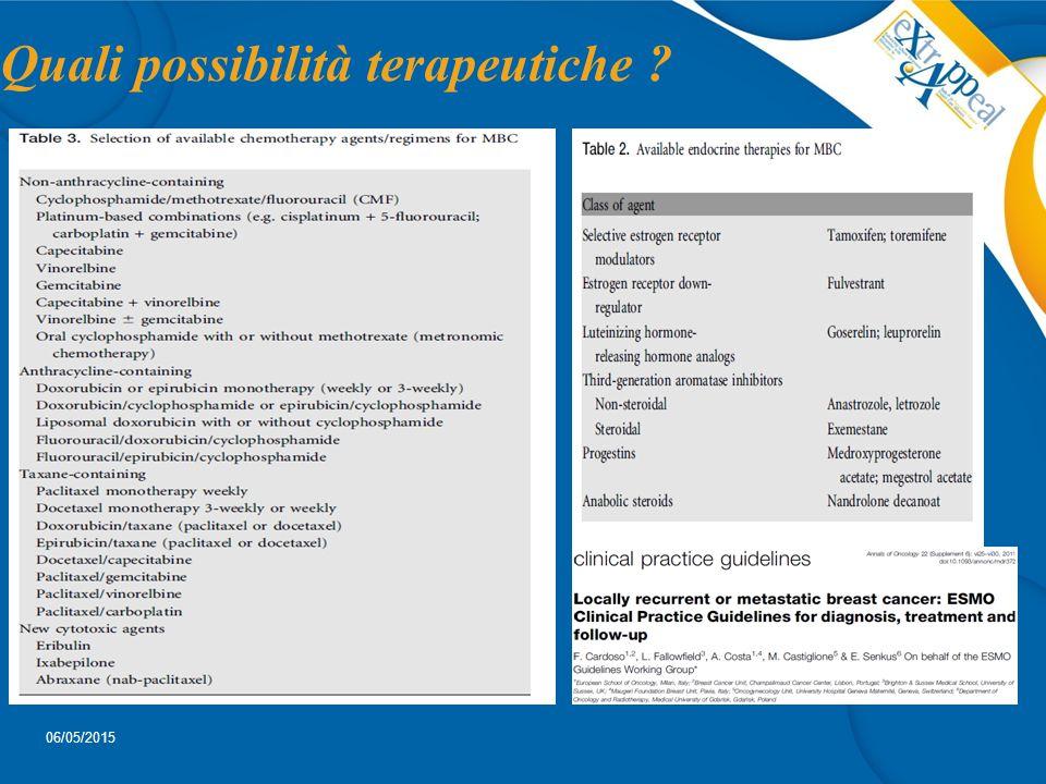 Quali possibilità terapeutiche ? 06/05/2015