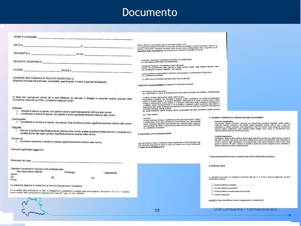 19 USR Lombardia – Formazione BES Documento
